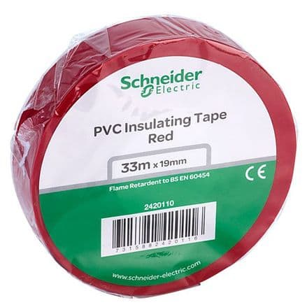 RED Electrical Insulation Tape 19mm x 33Mts (5)