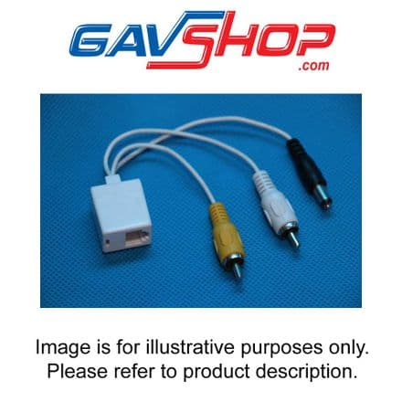 RJ11 Interface CCTV Cable to 2 x Phono and DC Power Lead