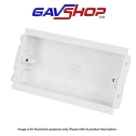 White Centaur 2 Gang 32mm Outlet Box for Trunking (Sold in 1's)