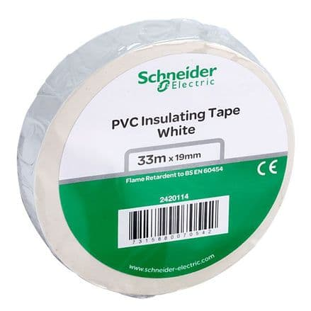 White Electrical Insulation Tape 19mm x 33Mts (1)