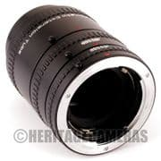 1:1 Macro Extension Tubes, Auto Meter Coupled for Contax Yashica AE 35mm Film SLR Cameras and Lenses
