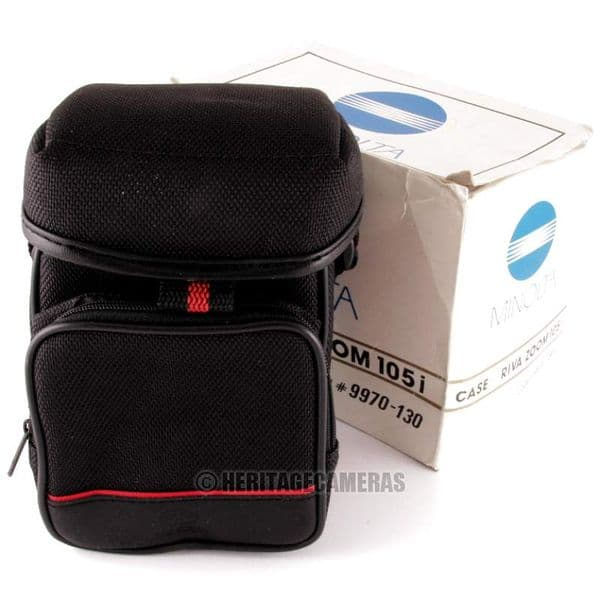 Minolta Case with Strap for Riva Zoom 105i (Boxed), also fits many other Film or Digital Cameras