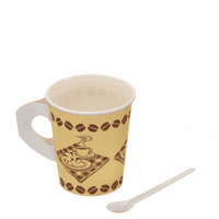 220ml Coffee Cup and Spoonette