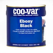 Coo-Var EBONY BLACK Satin Oil Based