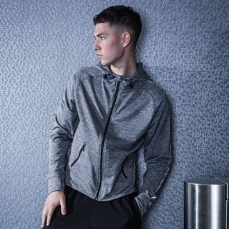 MS/TL550 Lightweight Running Hoodie With Reflective Tape With Marlow Striders  Logos