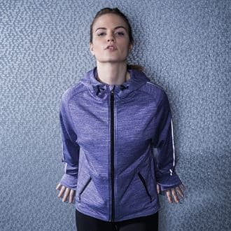 MS/TL551 Women's Lightweight Running Hoodie With Marlow Striders Logos