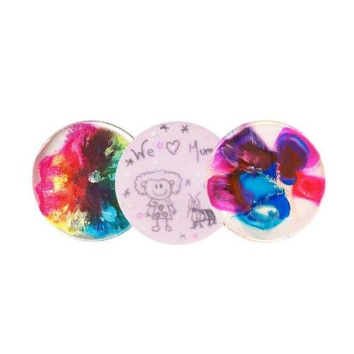 100mm x 3 Petri Art Silicone Coaster Mould
