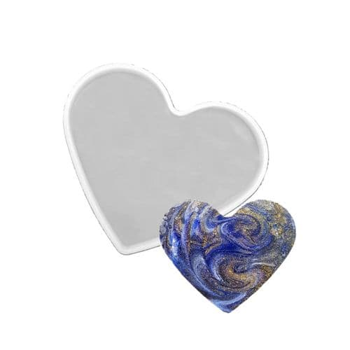 100x74mm Heart Silicone Coaster Mould