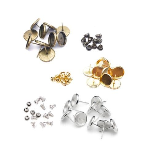 10mm Round Stud Earring Kit