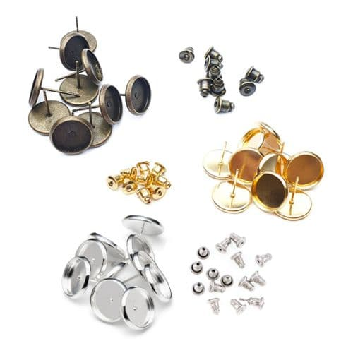 12mm Round Stud Earring Kit