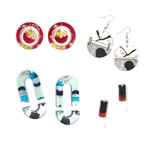 16 Piece Dynamic Earring Mould: For Multishape Earrings