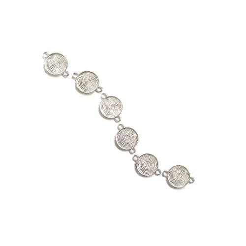 20mm Medium Round Bracelet Bezels