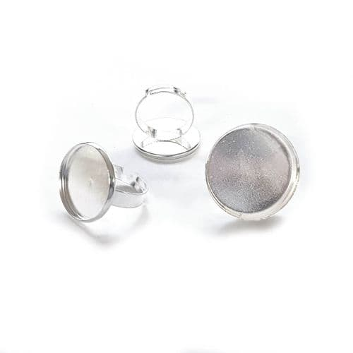 20mm Wide Band Statement Round Adjustable Rings