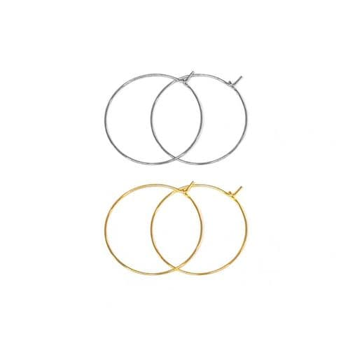 25mm Stainless Steel Hoop Beading Earrings