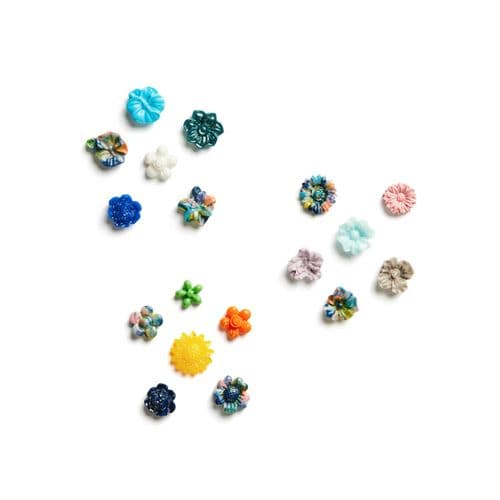6 Piece Mini Silicone Flower Multi Moulds