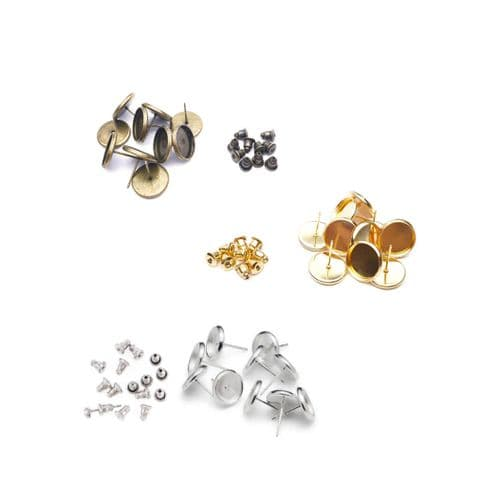 6mm Round Stud Earring Kits