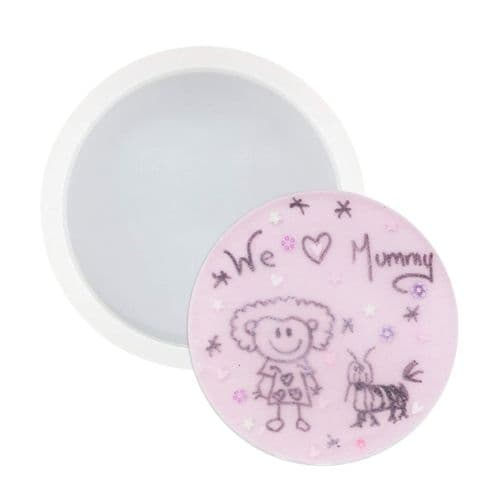 79mm Round Silicone Coaster Mould