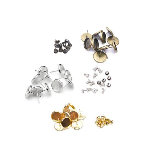 8mm Round Stud Earring Kit