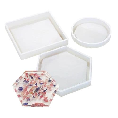 Contemporary Edged Silicone Coaster Moulds