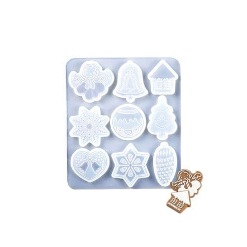 Cute Christmas Shapes Silicone Multi Mould