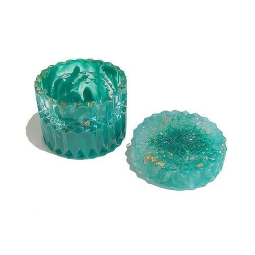 Diamond Lace Trinket Pot Mould - With Lid
