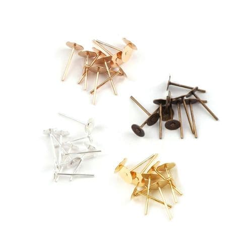 Ear Posts with 6mm Flat Pad