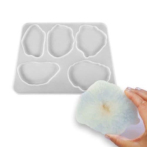 Freeform Agate Slice Coaster Mould