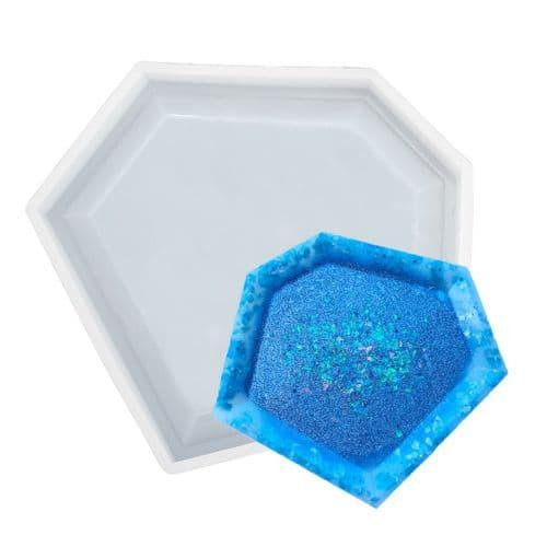 Geometric Raised Edge Silicone Coaster Mould - Amara