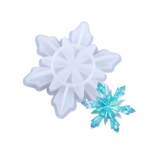 Geometric Silicone Snowflake Decoration Mould