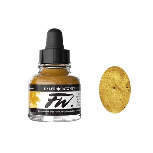 Gold FW Artists' Acrylic Ink