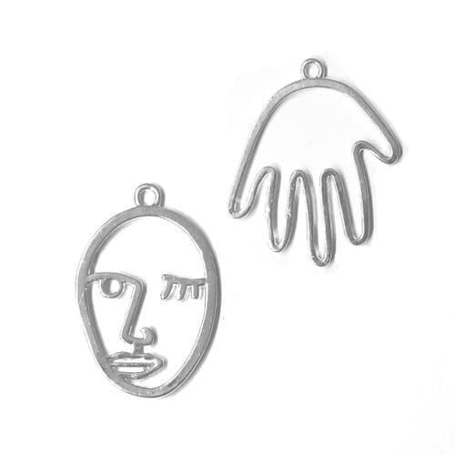 Hand & Face Open Backed Bezel