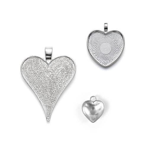 Heart Pendant Bezels