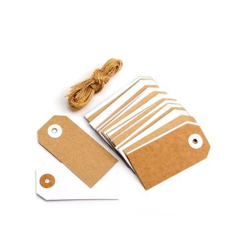 Kraft & White Gift Tags