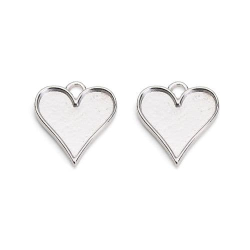 Medium Heart Earring Bezels