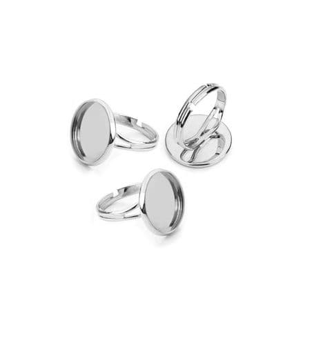 Narrow Band Split Shank Round Adjustable Rings