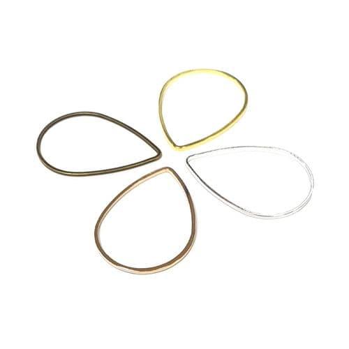 Open Backed Teardrop Jewellery Findings - Pack of 10