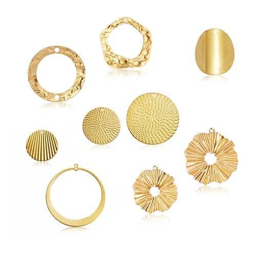 Raw Brass Charms: Circles