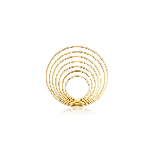 Raw Brass Charms: Connector Rings