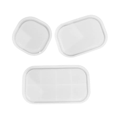 Rounded Edge Rectangular Tray Moulds