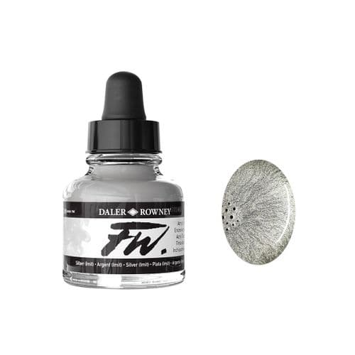 Silver FW Artists' Acrylic Ink