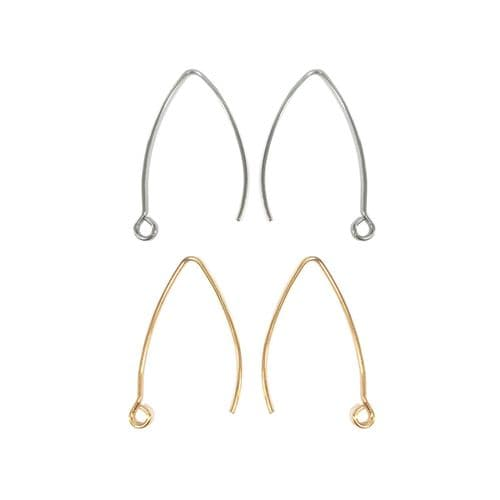 Stainless Steel V-Style Hooks - 25 Pairs