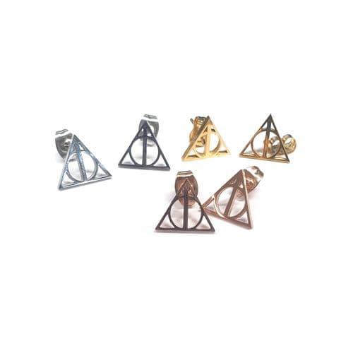 Stainless Steel Wizarding World Stud Earrings – Pair