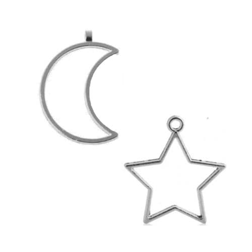 Star & Moon Open Backed Bezels