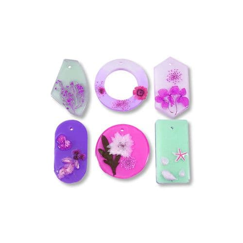 Statement Decoration, Pendant and Keyring Silicone Mould - No Drill - for Resin and JESMONITE