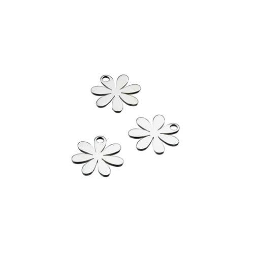 Sterling Silver Daisy Charms - Individual