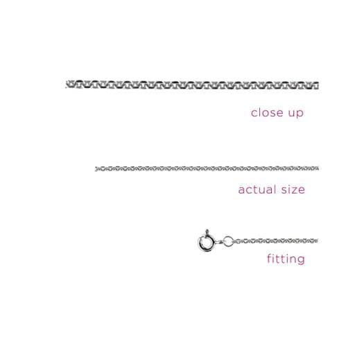 Sterling Silver Sparkling Trace Necklace Chain - 18""