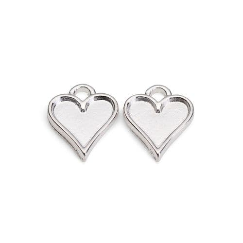 Tiny Heart Earring Bezels