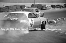AMC JAVELIN Trans Am Photo. George Follmer Chases Mustang (Horst Kwech) Riverside 1968
