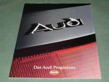 "AUDI ""Das Audi programm"" (c.1990) German text  Sales Brochure"