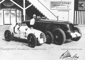 AUSTIN 7 & LEYLAND-THOMAS, P Driscoll & G Scott .Photo. Brooklands 1935